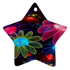 Nice 3d Flower Star Ornament (two Sides) by Onesevenart