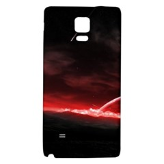 Outer Space Red Stars Star Galaxy Note 4 Back Case by Onesevenart