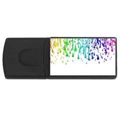 Paint Drops Artistic Usb Flash Drive Rectangular (4 Gb) by Onesevenart
