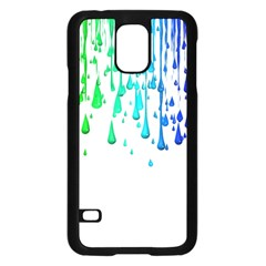 Paint Drops Artistic Samsung Galaxy S5 Case (black) by Onesevenart