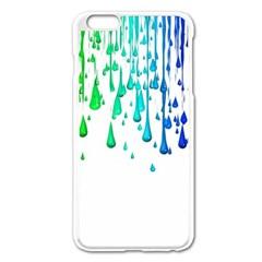 Paint Drops Artistic Apple Iphone 6 Plus/6s Plus Enamel White Case by Onesevenart