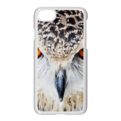 Owl Face Apple Iphone 7 Seamless Case (white) by Onesevenart