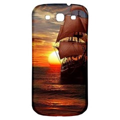 Pirate Ship Samsung Galaxy S3 S Iii Classic Hardshell Back Case by Onesevenart
