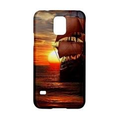 Pirate Ship Samsung Galaxy S5 Hardshell Case  by Onesevenart