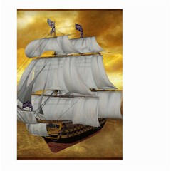 Pirate Ship Large Garden Flag (Two Sides) by Onesevenart