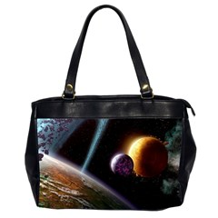 Planets In Space Office Handbags (2 Sides)  by Onesevenart