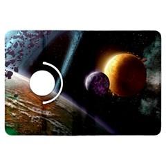 Planets In Space Kindle Fire Hdx Flip 360 Case by Onesevenart