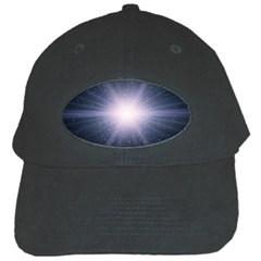 Real Photographs In Saturns Rings Black Cap by Onesevenart