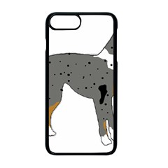 Catahoula Leopard Dog Silo Color Apple iPhone 7 Plus Seamless Case (Black)