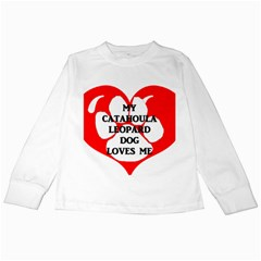 My Catahoula Loves Me Kids Long Sleeve T-Shirts by TailWags