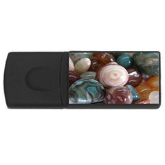 Rain Flower Stones Is A Special Type Of Stone Usb Flash Drive Rectangular (4 Gb) by Onesevenart