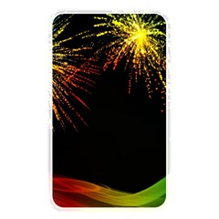 Rainbow Fireworks Celebration Colorful Abstract Memory Card Reader by Onesevenart