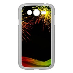 Rainbow Fireworks Celebration Colorful Abstract Samsung Galaxy Grand Duos I9082 Case (white) by Onesevenart