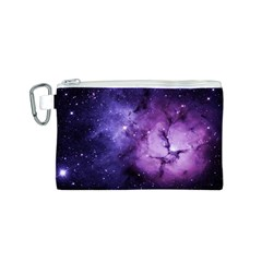 Purple Space Canvas Cosmetic Bag (s) by Onesevenart