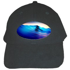 Rolling Waves Black Cap by Onesevenart