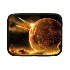 Sci Fi Planet Netbook Case (small)  by Onesevenart