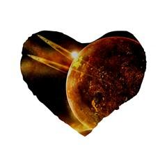 Sci Fi Planet Standard 16  Premium Heart Shape Cushions by Onesevenart