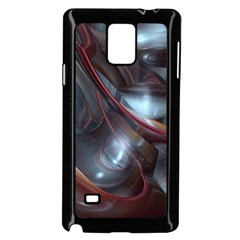 Shells Around Tubes Abstract Samsung Galaxy Note 4 Case (black) by Onesevenart
