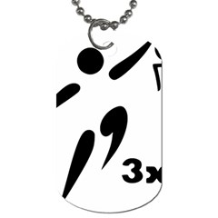 3 On 3 Basketball Pictogram Dog Tag (two Sides) by abbeyz71