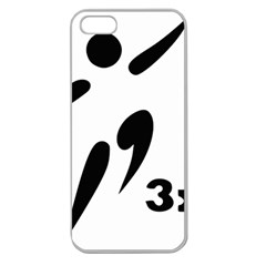 3 On 3 Basketball Pictogram Apple Seamless Iphone 5 Case (clear) by abbeyz71