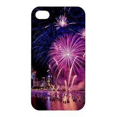 Singapore New Years Eve Holiday Fireworks City At Night Apple Iphone 4/4s Hardshell Case by Onesevenart