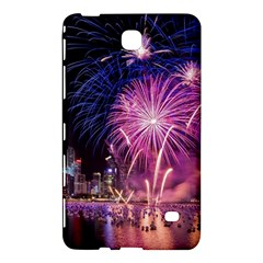 Singapore New Years Eve Holiday Fireworks City At Night Samsung Galaxy Tab 4 (8 ) Hardshell Case  by Onesevenart