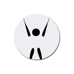 Air Sports Pictogram Rubber Coaster (round)  by abbeyz71