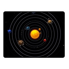 Solar System Fleece Blanket (Small) by Onesevenart