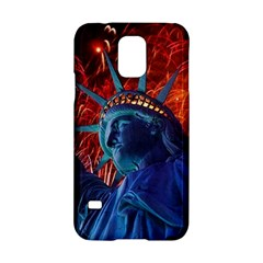Statue Of Liberty Fireworks At Night United States Of America Samsung Galaxy S5 Hardshell Case  by Onesevenart