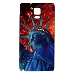 Statue Of Liberty Fireworks At Night United States Of America Galaxy Note 4 Back Case by Onesevenart