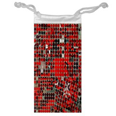 Red Circle Jewelry Bag by AnjaniArt