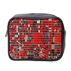 Red Circle Mini Toiletries Bag 2 Side by AnjaniArt