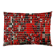 Red Circle Pillow Case (two Sides) by AnjaniArt