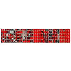 Red Circle Flano Scarf (small) by AnjaniArt