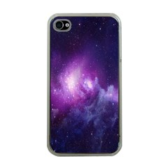 Galaxy Space Purple Apple Iphone 4 Case (clear) by AnjaniArt