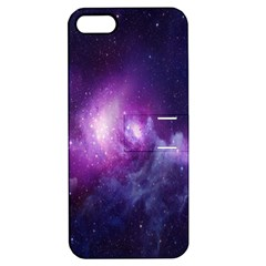 Galaxy Space Purple Apple Iphone 5 Hardshell Case With Stand by AnjaniArt
