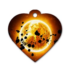 Sun Man Dog Tag Heart (one Side) by Onesevenart