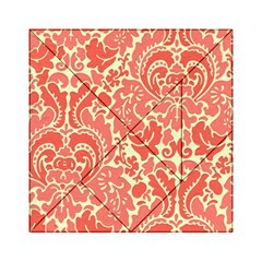 Red Floral Acrylic Tangram Puzzle (6  X 6 ) by AnjaniArt