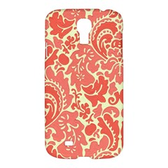 Red Floral Samsung Galaxy S4 I9500/i9505 Hardshell Case by AnjaniArt