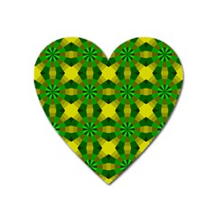 Background Colour Circle Yellow Green Heart Magnet by AnjaniArt