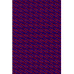 Chain Blue Red Woven Fabric 5.5  x 8.5  Notebooks by AnjaniArt
