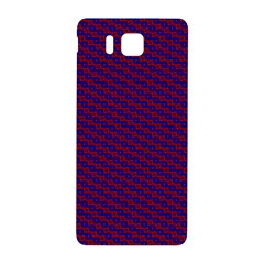 Chain Blue Red Woven Fabric Samsung Galaxy Alpha Hardshell Back Case by AnjaniArt