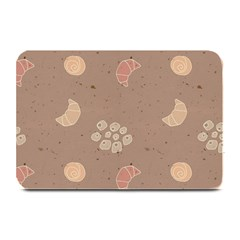 Bread Cake Brown Plate Mats by AnjaniArt