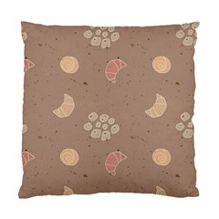 Bread Cake Brown Standard Cushion Case (two Sides) by AnjaniArt