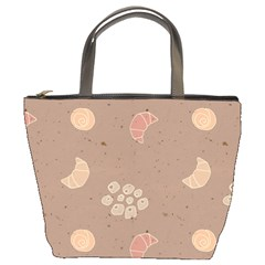 Bread Cake Brown Bucket Bags by AnjaniArt