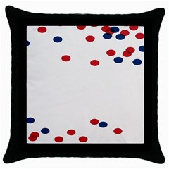 Circle Red Blue Throw Pillow Case (black) by AnjaniArt