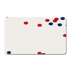 Circle Red Blue Magnet (rectangular) by AnjaniArt