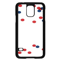 Circle Red Blue Samsung Galaxy S5 Case (black) by AnjaniArt