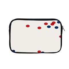Circle Red Blue Apple Macbook Pro 13  Zipper Case by AnjaniArt