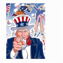 United States Of America Celebration Of Independence Day Uncle Sam Large Garden Flag (two Sides) by Onesevenart